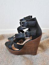 Sandales Noires Compensées New Look - Pointure 39
