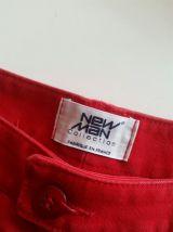 Pantalon Vintage rouge NEW Man taille 40.