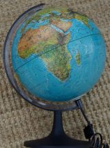 Globe terrestre lumineux 1986 Scan globe Danemark