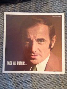 """Vinyle d'occasion de Charles Aznavour """"Face au public"""" de 1968"""