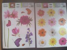 2 Planches Sticker Fleurs