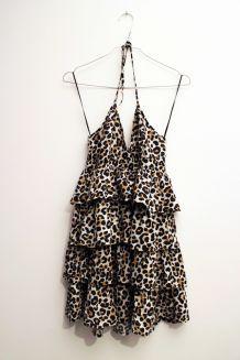 Robe dos nu léopard H&M
