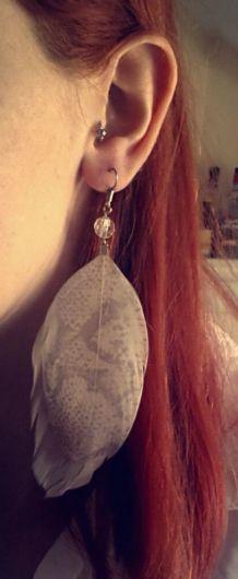 Boucles d'oreilles Plumes