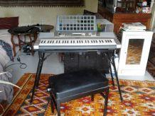 Lot clavier, pied et fauteuil