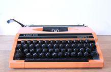 Machine à écrire orange années 80 Silver Reed