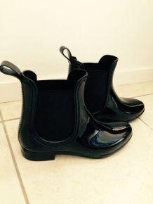 Bottines low boots en caoutchouc Pimkie