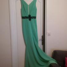 robe longue verte
