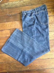 Pantalon large Zara façon jean T38