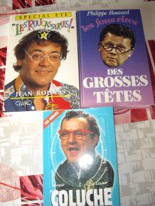 Livres Humour Coluche et autres