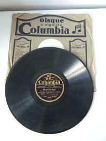 Vinyle 78 tours Columbia DF 569 - Un Soir de Rafle, Adrien Lamy