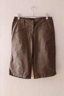 Bermuda chic en coton taupe