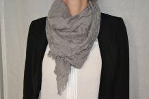 Grand foulard beige