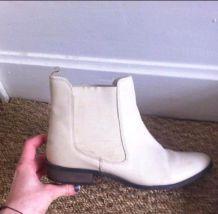 Boots Asos blanc crème