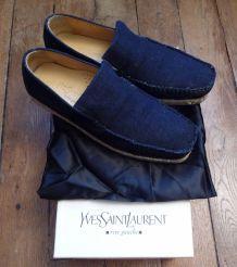 Mocassins en jeans- YVES SAINT LAURENT RIVE GAUCHE