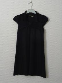Robe noire avec de petites manches- Kookai