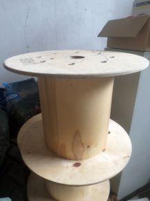 Touret en bois, esprit industriel, loft