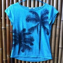 T-Shirt turquoise Tropical wear