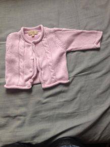 gilet bébé rose pas cher