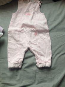 salopette rose bébé pas cher