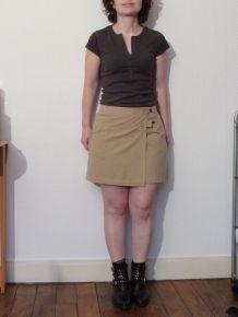 Short/Jupe Coton Beige- Promod