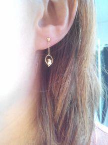 boucles d'oreilles dauphin or
