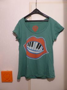 T-shirt col V D'glingue Christophe Maé