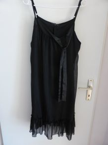 Robe noir habillée pailletée T42