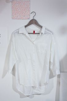 Chemise Blanche Manches 3/4 H&M