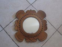 miroir cuir amerique vintage
