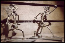 "Figurine Métal Fait main ""Peter & Karl"""