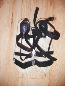 Espadrilles Laston à lacets noirs