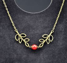 COLLIER BRANCHES ET PERLE NACREE