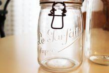 Bocal en verre vintage Le Parfait