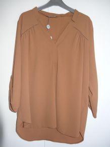 Tunique de la marque Mamouchka taille XL couleur cognac neuf
