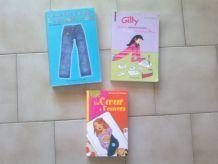 lot de 3 livres ados fille