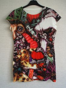 T shirt manches courtes multicolore