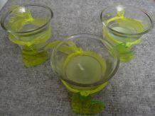 3 Pots Photophores en verre