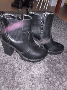 bottines noires taille 40