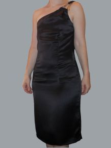 Robe 100% Soie noir - Alba Conde