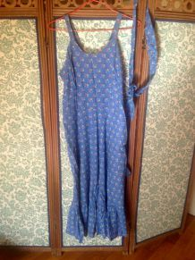 Robe longue d'été liberty à bretelles