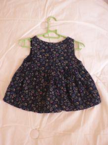 jolie petite robe mi saison coton 0-3 mois