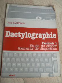 Dactylographie