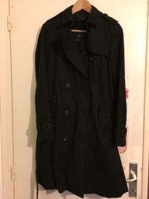 Trench coat noir long Zara