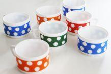 Lot de 7 tasses Arcopal Vintage