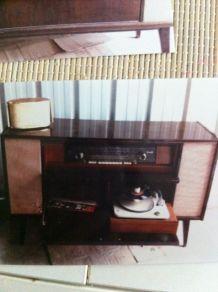 Meuble Telefunken radio et tourne Disque