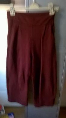 Pantalon jupe culotte large Zara Bordeaux