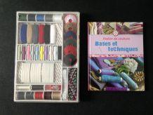 """Ensemble de couture coffret et livre """"bases et techniques"""""""