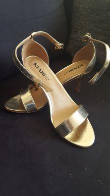 Escarpins dorés