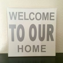 """TABLEAU CADRE  """"WELCOME"""""""