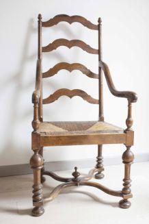 fauteuil en bois paillé fin XIXème